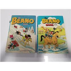 The Beano Book 1975 & 1976 Hardcover Comic Books