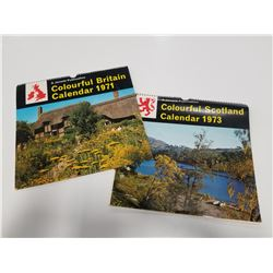 Pair of Vintage Scenic U.K. Calendars