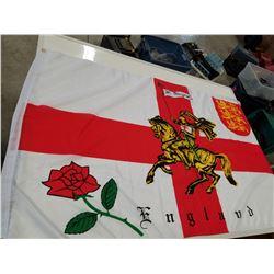Large England Flag with St. George on Horseback