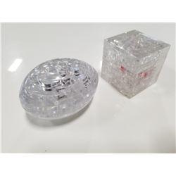 Magnif Scrambled Egg & Cube 3D Puzzles