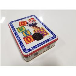 Collectible Oreo 40th Anniversary Cookie Tin