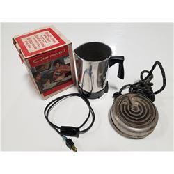 Vintage Electric Pot & Hot Plate