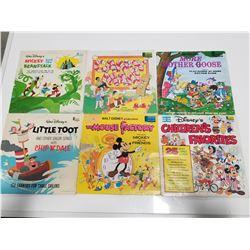 Lot of 6 1960-1970s Disneyland Vinyl Records