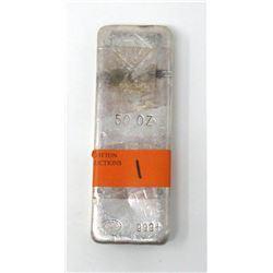 50 Oz Johnson Matthey 999+ Fine Silver Bar