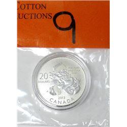 "2013 Canadian .9999 Silver ""Santa"" $20 Coin"