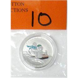 "2016 Canadian .9999 Silver ""Toboggan"" $25 Coin"