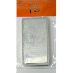 10 Oz. .999 Fine Silver Scottsdale Lion Bar