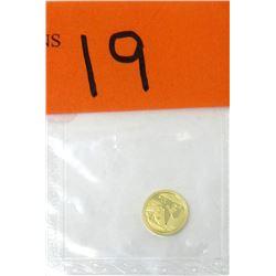 1 Gram .999 Gold 10 Yuan Panda Coin - 2016 Mintage