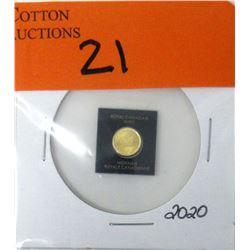 1 Gram .9999 Fine Gold Canada Maple Leaf Coin