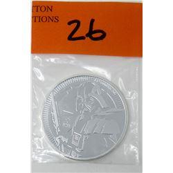 1 Oz. .999 Fine Silver 2019 NIUE Star Wars Coin