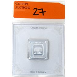 20 Gram .999 Silver Geiger Edelmetalle Bar