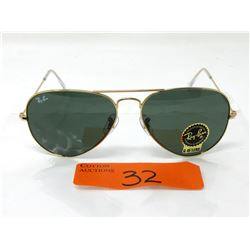 New Ray Ban Aviator Sunglasses - G-15 Lens