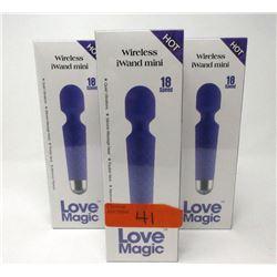 3 New Love Magic Vibrator/Massagers - Purple