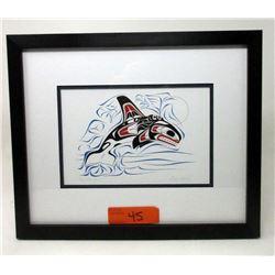 Richard Shorty Framed Print-Diving Killer Whale