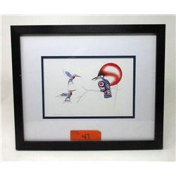 Richard Shorty Framed Print - Kingfisher