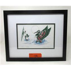 Richard Shorty Framed Print - Loons-Mates