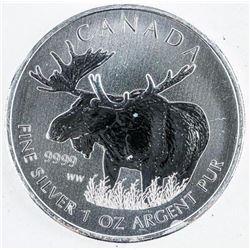 9999 Fine Silver $5.00 1oz Coin 'Bull Moose'