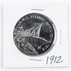R.M.S. Titanic 1912 5.00 Coin