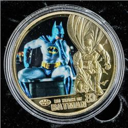 Gold Plated Batman Medallion 80 Years of Batman
