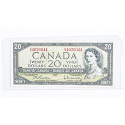 Bank of Canada 1954 20.00 Note Modified Portrait B