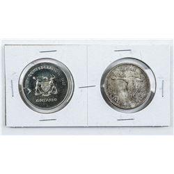 1867-1967 Centennial Silver Dollar and Medallion