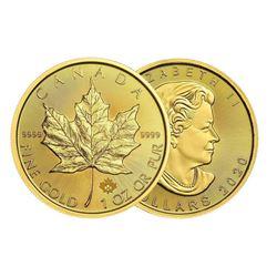 Royal Canadian Mint 1oz Fine Gold Maple. 2020.