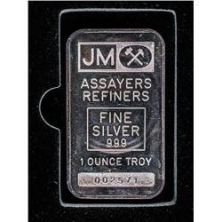 JM Assayer's Refiners Vintage Bar, 1oz Plain Back