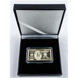 USA Novelty - 1oz Gold Plated Bar (No Kt. Gold)