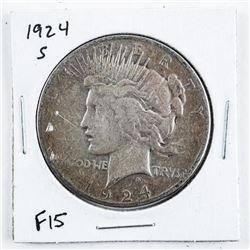 1924 (S) USA Silver Morgan Dollar Dollar
