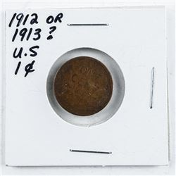 US One Cent 1912 or 1913