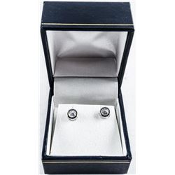 925 Silver Bezel Set Stud Earrings Swarovski  Elements