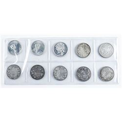 Group (10) Canada Silver 50 Cents, Edward -  Elizabeth