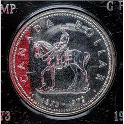 1873-1973 Commemorative Silver Dollar - RCMP
