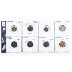 Group (8) World Coins