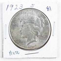 1923 USA Silver Morgan Dollar AU50