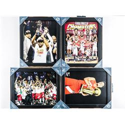 Group (4) Framed 8x10 NBA World Champs  Raptors Photos