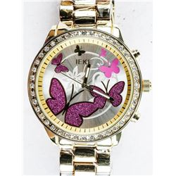 NEW Ladies Quartz Watch with Butterfly Dial  and Swarovski Elements