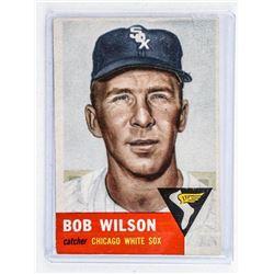 Bob Wilson Chicago Baseball Card. O PEE CHEE  1953 (OER)