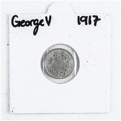 1917 George V Silver 5 cents