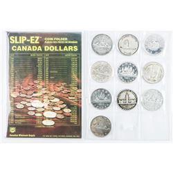 Estate Canada Silver Dollar Collection - 10  Coins