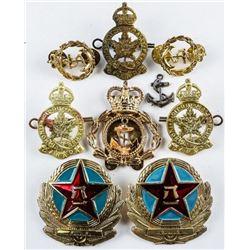 Estate Lot - 'Military' Pins, Badges, Collars  etc