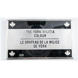 925 Solid Sterling Silver 'The York Militia  Colour' 70.41grams