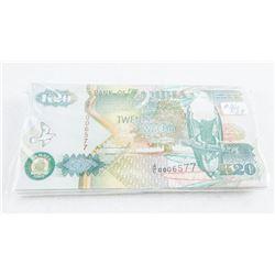 Bank of Zambia Brick x (65) x 20 KWACHA UNC  Sequence CAT 195.00