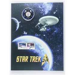 STAR TREK 50 - Canada 25 Cent Coin and Stamp  Folio