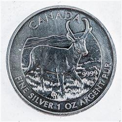 .999 Fine Silver $5.00 Coin 'Antelope'