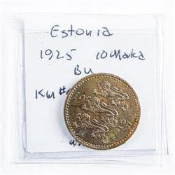 Estonia 1925 10 Marka BU KM#4