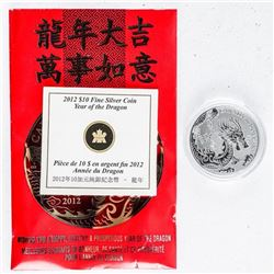 .999 Fine Silver $10.00 Coin 'Canada Year of  the Dragon'