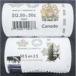Lot (2) Rolls RCM Special Issues 2020 50 cent  and 2020 First Strikes 2.00 Coin