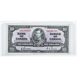 Bank of Canada 1937 10.00 Note G/T