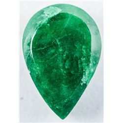 Loose Gemstone 9.24ct Pear Cut Emerald. TRRV:  $2770.00